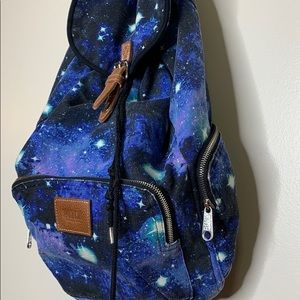 Pink Victoria's Secret | Galaxy Canvas Backpack